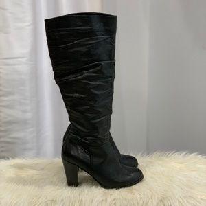 Aldo black leather boots size 9